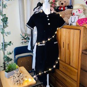 Zara collar knit dress with pearl button 🐚